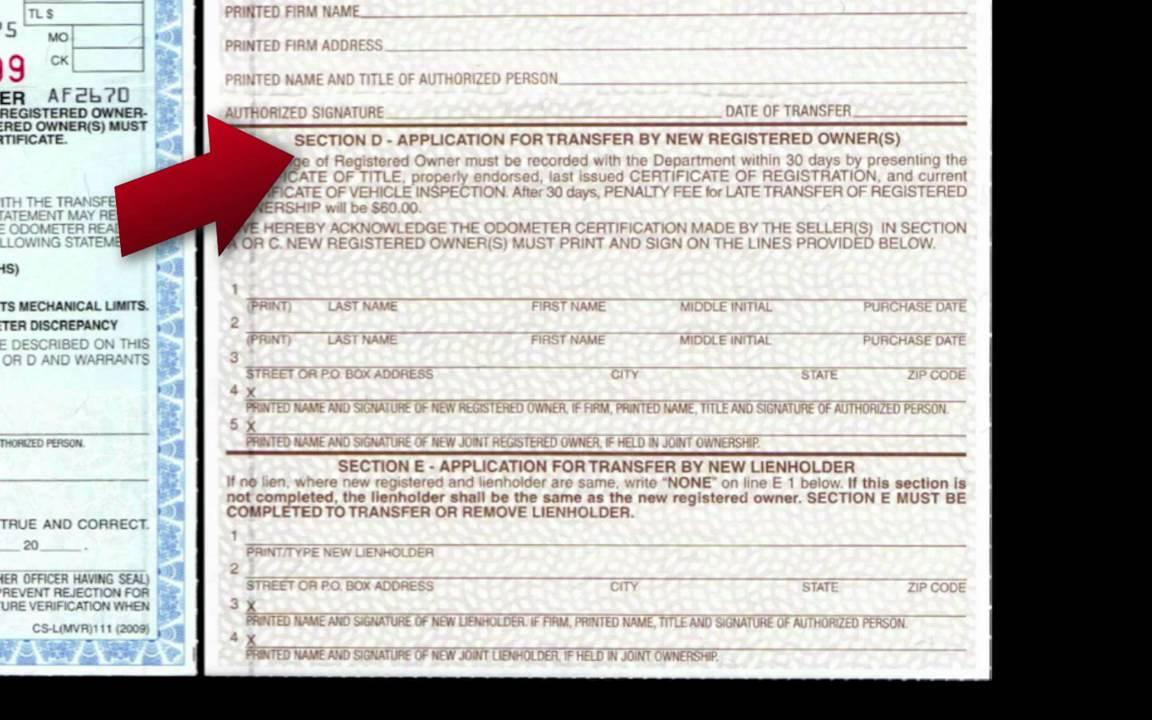 Florida Motor Vehicle Registration