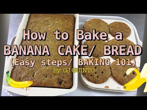 BASIC BANANA CAKE RECIPE | EASY STEPS | BAKING 101