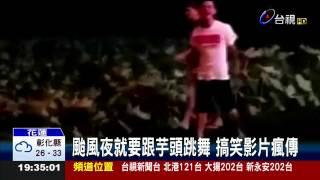 颱風夜就要跟芋頭跳舞搞笑影片瘋傳