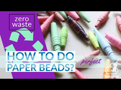 How to make a paper bead jewelry - DIY - Paper beads