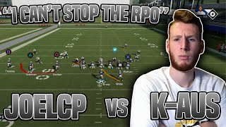 Madden 20 Pro Gameplay- KAus vs Joel CP | RPOs Unstoppable in Madden 20??