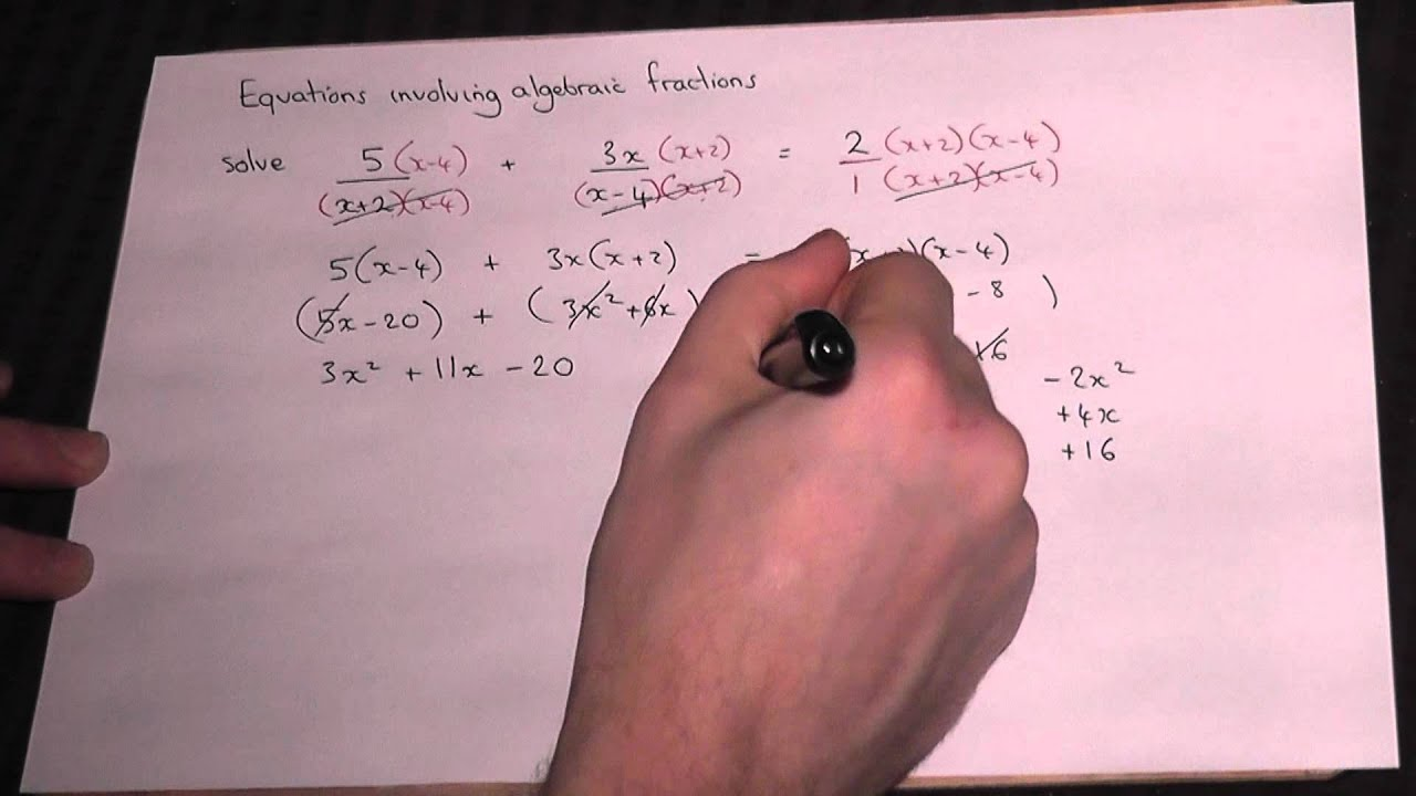 Solving Algebraic Fractions Easily  Gcse A* And As Maths Revision