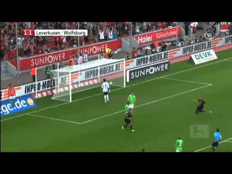 Amazing  Bicycle Goal by Eren Derdiyok (Bayer Leverkusen vs VfL Wolfsburg)