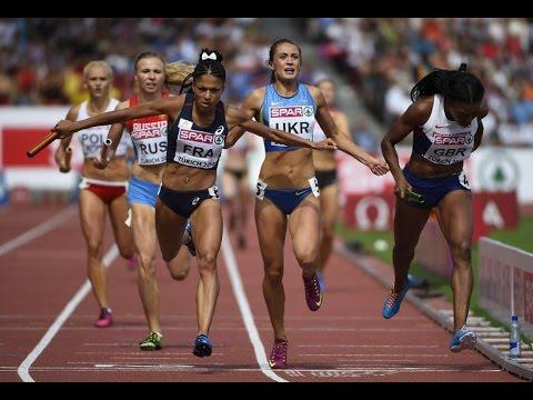 un finish exceptionnel de Floria GUEI au relais 4x400m Femme Championnat d'Europe 2014 à Zurich