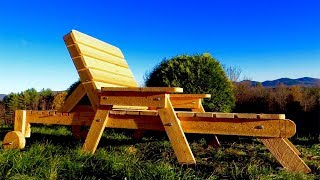 Lounger - complete build 100% from fence pickets!