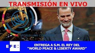 Entrega a su Majestad el Rey del World Peace & Liberty Award thumbnail