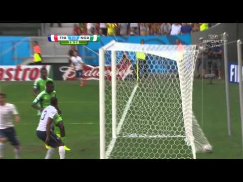 World Cup 2014 Round of 16 France vs Nigeria 2014 All Goals/Francja - Nigeria
