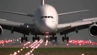 Top 10 Airlines - Emirates A380 Arriving and Departing Manchester Airport