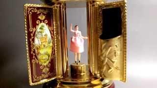 Reuge Dancing Ballerina Carousel Capodimonte Music Box