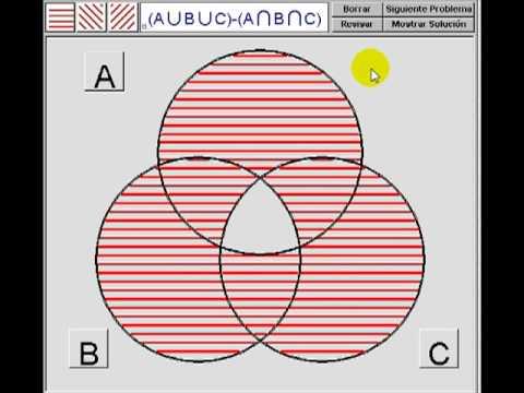 Operaciones con conjuntos en diagramas de venn youtube ccuart Gallery