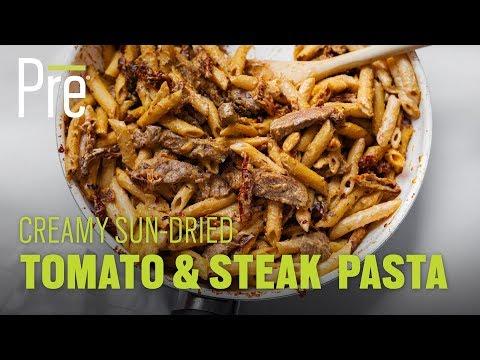Creamy Sun-dried Tomato & Steak Pasta
