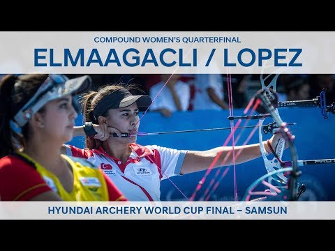 Gizem Elmaagacli v Sara Lopez – compound women's quarterfinal   Samsun 2018