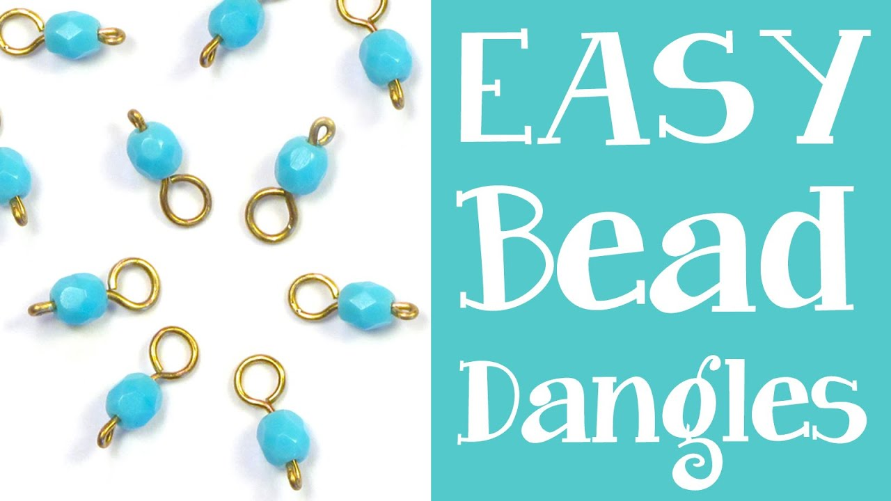 How to Make Bead Dangles - Simple headpin + beaded dangle tutorial ...