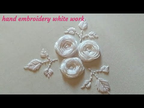 Hand Embroidery White work | embroidery designs | White embroidery work |Вышивка: Белая гладь