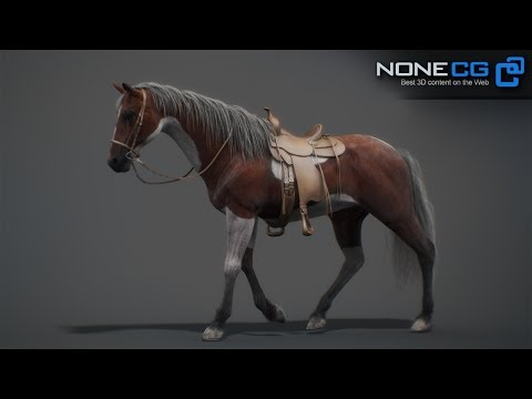 Animated Horse 3D Model by NoneCG
