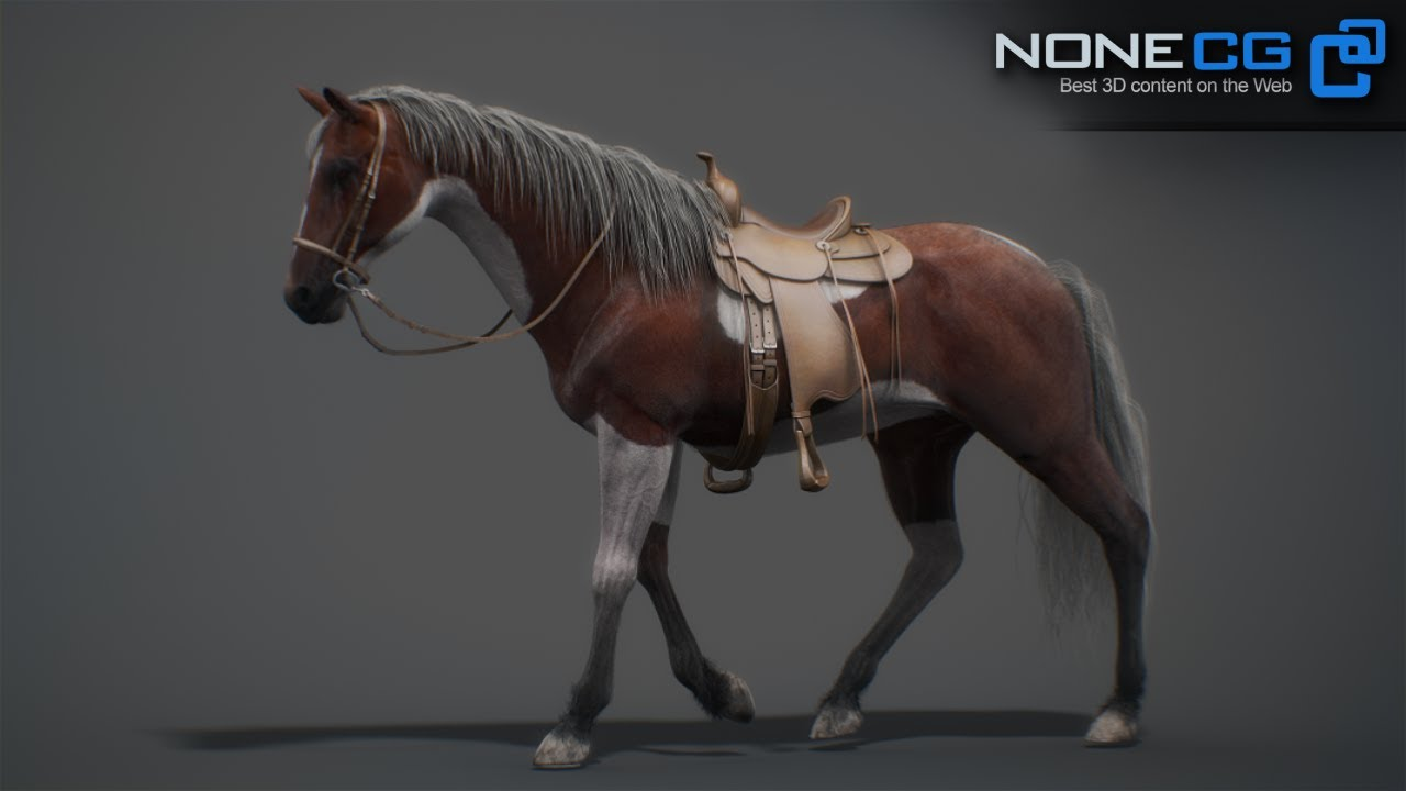 animated horse 3d model by nonecg youtube
