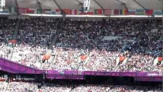 Mexican Wave Olympic Park Paralympics Athletics 4th September Crowd Getting Told Off