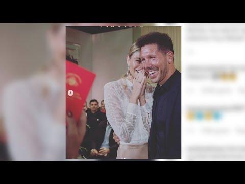 Simeone y Carla Pereyra se casan por lo civil