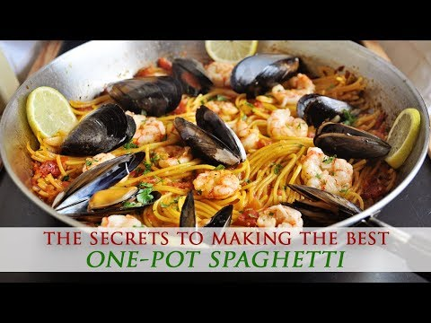 One-Pot Saffron Spaghetti With Shrimp & Mussels Recipe