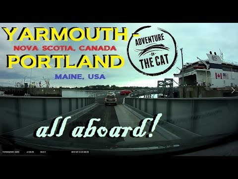 """Time Lapse: """"The Cat"""" Ferry from Nova Scotia to Portland, Maine"""