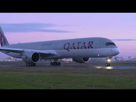 Primer Airbus A350 1000 Qatar Airways take off despegue