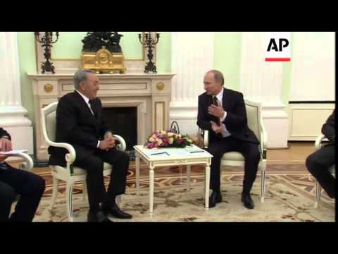 Putin meets Nursultan Nazarbayev of Kazakhstan