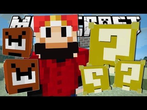 TDM | Minecraft | SUPER MARIO!! (Lucky Blocks, Goombas & More!) | One Command Creation