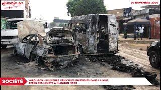 Yopougon: Plusieurs Véhicules Incendiés Dans La Nuit Après Des Heurts À Niangon Nord