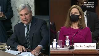WATCH: Sen. Sheldon Whitehouse's opening statement in Barrett Supreme Court confirmation hearing