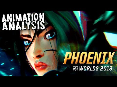 Galaxy brained mixed media animation    Phoenix    Worlds 2019 song music video animation analysis
