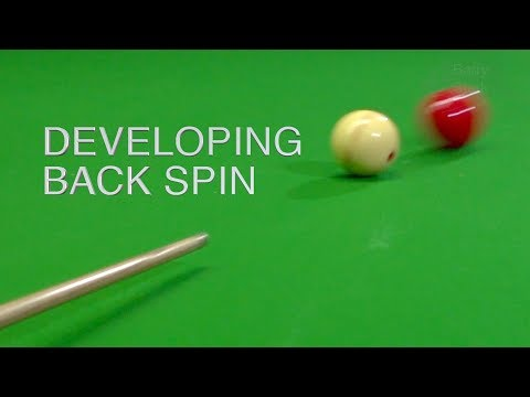 106. Developing Back Spin - The cue ball will come back.