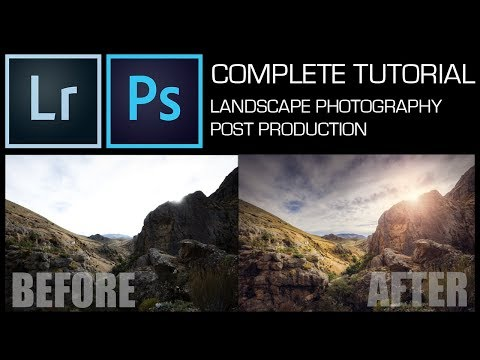 How to edit a LANDSCAPE photo in Photoshop – COMPLETE TUTORIAL