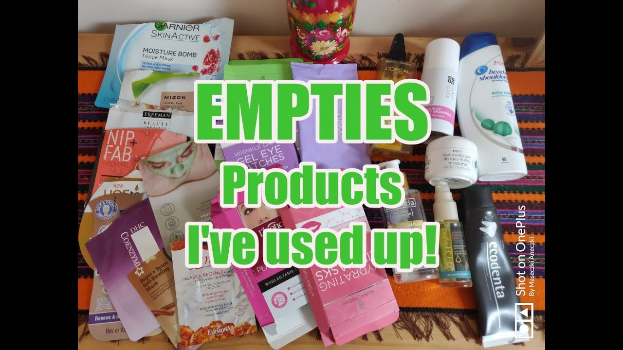 Empties-1 ** Products I've used up.