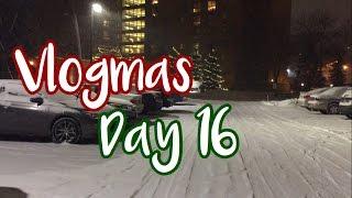 Vlogmas 2016 Day 16 | Winter Snow Warning