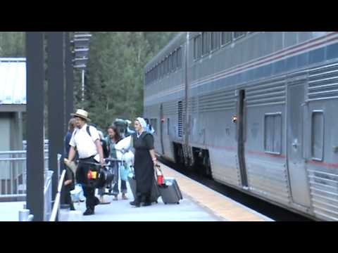 Thumbnail: Amtrak at Izaak Walton Inn