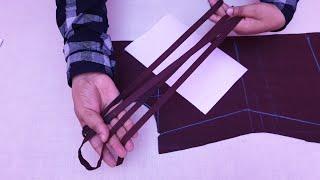 पट्टियों के यूज़ से बना बेहद खूबसूरत नेक जिसे आप ब्लाउज या कुर्ती में बना सकते हो Stripes Neck Design