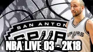 Manu Ginobili Through the Years - NBA Live 2003 - NBA 2K18