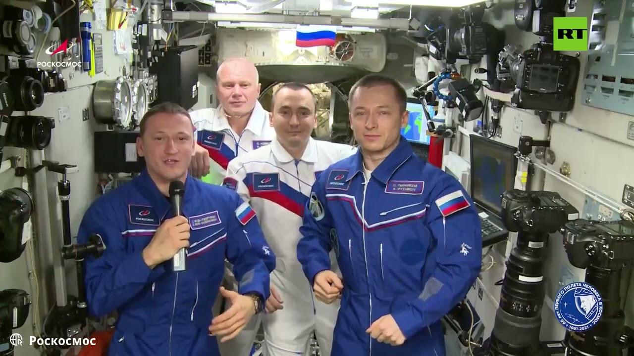 الطاقم الروسي لمحطة الفضاء الدولية يهنئ بـالذكرى الـ60 على رحلة غاغارين إلى الفضاء