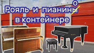 Купили на аукционе контейнер, нашли антиквариат, рояль и пианино.