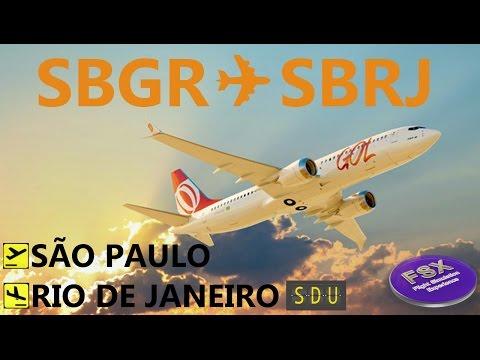 [FSX] ROTA MAIS FAMOSA DO BRASIL  SÃO PAULO (SBGR) ✈ SANTOS DUMONT (SBRJ)