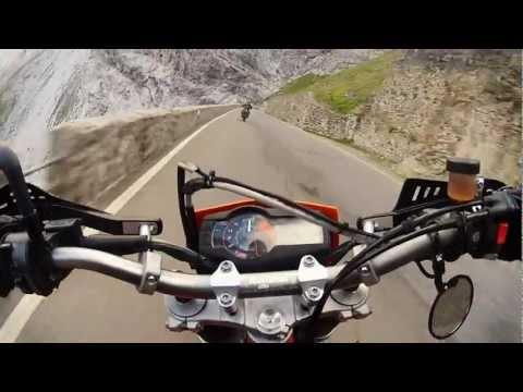 Insane Supermoto Ride on Stelvio Pass [Downhill]