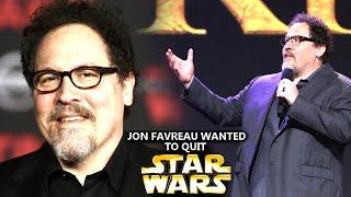 Jon Favreau Nearly Quit Lucasfilm! (Star Wars Explained)