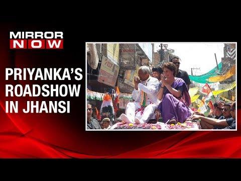 Congress Gen Secy Priyanka Gandhi conducts roadshow in Jhansi, Uttar Pradesh