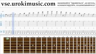 Как играть на гитаре Besame Mucho Табы часть 1 упражнения um-b821