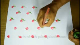 free hand fabric painting basic lessons 4   free hand painting tutorial Telugu,pictures,4K videos