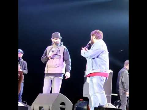 Рустам Рептилоид и Тамби Масаев на концерте Miyagi и Andy Panda в Бишкеке 2021