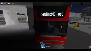 Roblox London Hackney & Limehouse bus Simulator Scania Omnicity DD Ex SLN One door on DLR RR Beckton