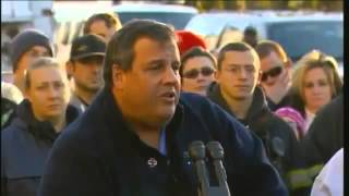 New Jersey Governor Chris Christie Cries after being hugged by Bruce Springsteen (Hurricane Sandy)