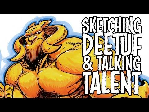 Sketching Deetuf & Talking Talent - Time Lapse Video