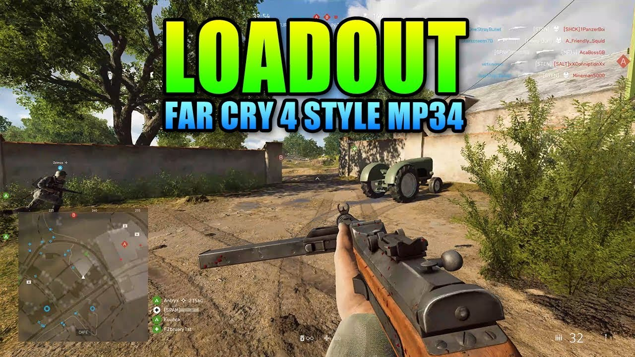 Loadout MP34 Far Cry 4 Style | Battlefield 5 Medic Gameplay